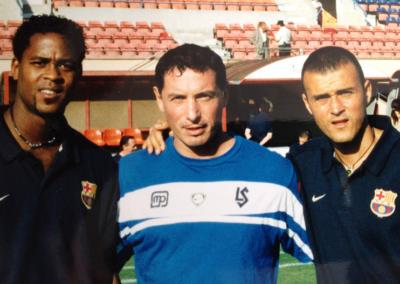 Avec Patrick Kluivert et Luis Enrique