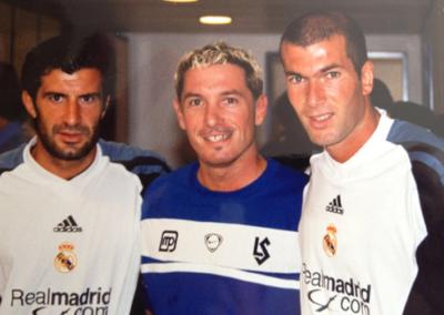 Avec Luis Figo et Zinedine Zidane